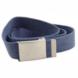 Pasek parciany jeans pas do 140 cm niebieski