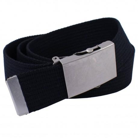 Pasek parciany do spodni jeansów czarny z rolką