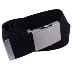 Pasek parciany długi XXL do spodni jeans czarny - rolka