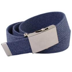 Pasek parciany długi xxl jeansowy do spodni niebieski - rolka