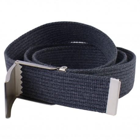 Pasek parciany jeansowy do spodni szary - klapka