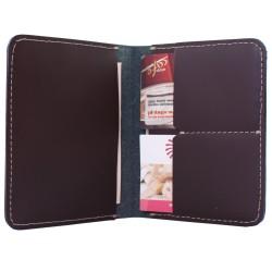Portfel Slim Wallet Męski Cienki Skórzany Brązowy