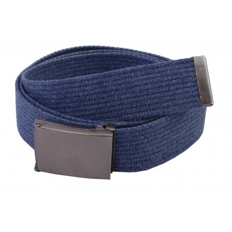 Pasek parciany długi XXL jeansowy do spodni niebieski - ciemna klapka