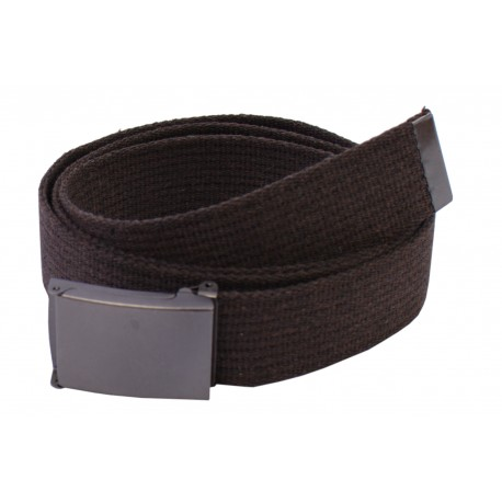 Pasek parciany długi XXL jeansowy do spodni brązowy - ciemna klapka