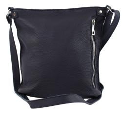 Skórzana torebka  listonoszka ze skóry czarna Z xs